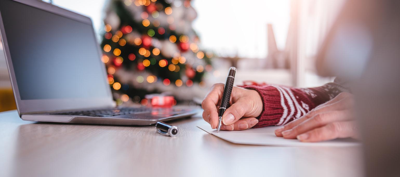 Weihnachtskarte für Mitarbeiter