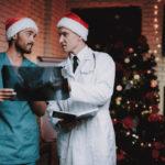 Weihnachtsgrüße für einen Arzt